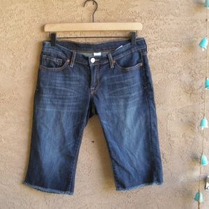 Lucky Brand Size 4 Bermuda Denim Cutoffs